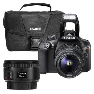 Kit Cámara Canon EOS Rebel T6 + Lente EF 50MM + SDMI 16GB + Maletin
