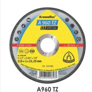 """Disco de Corte Inox. 4.1/2"""" x 7/8"""" x 1mm - A960TZ Klingspor"""