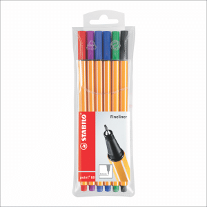 STABILO POINT 88 FINE PEN EN ESTUCHE X 6 COLORES