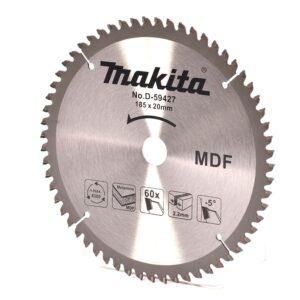"""Disco de Sierra P/Melamine y MDF 7.1/4"""" x 1"""" 60D Makita D-59427 - Gris"""