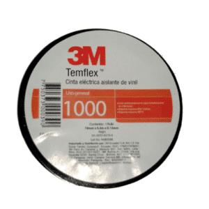 "Cinta Temflex 1000 3M C/Negro 3/4"" X 4.5m - Negro"
