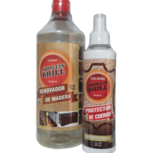 Pack Abollis Brill - Renovador de Madera 1Lt + Protector de Cuero 275Ml