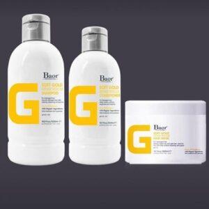 Shampoo + Acondicionador + Mascarilla Baor SOFT GOLD