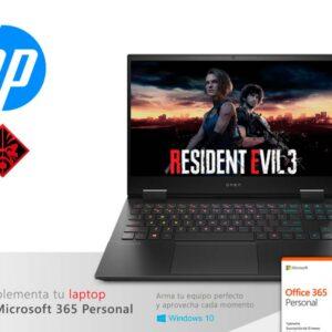 "Laptop HP OMEN 15-ek0004la Core i7-10750H 12GB/32GB Optane/SSD512GB/V4GB GTX1650/ 15.6"" W10"