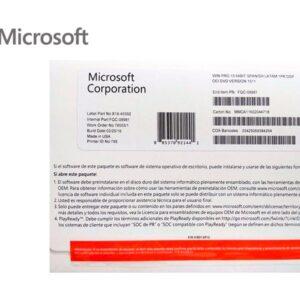 Microsoft Windows 10 Profesional 64 Bits Espanol 1PK