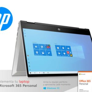 "Laptop HP Pavilion x360 14-dw0004la Intel Core i7-1065G7 12GB/ssd256GB + Optane 16GB/14"" TOUCH"