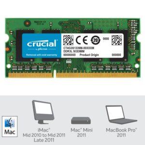 Memoria RAM SODIMM Crucial DDR3L-1333 de 4GB