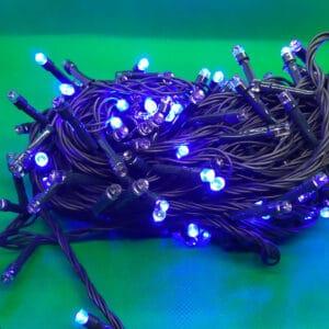 luz led azul 200 cable verde Navidad 2020