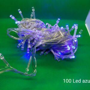 Luz Led 100 Azul Navidad 2020 Cable Blanco