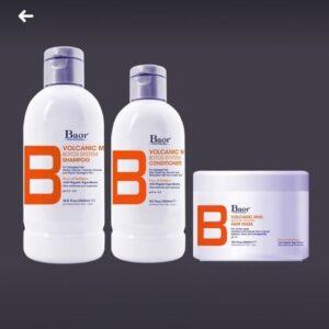 Shampoo + Acondicionador + Mascarilla BAOR VOLVANIC MUD