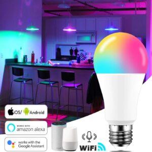 Foco inteligente RGB WIFI E27 9W WIFI RGB 16000 colores