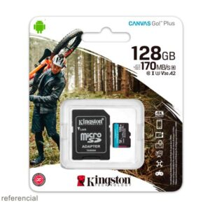 Memoria microSD 128GB Kingston Canvas Go! Plus 170 MB/s