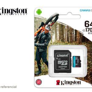 Memoria microSD 64GB Kingston Canvas Go! Plus 170 MB/s
