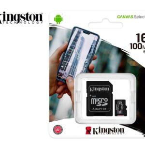 Memoria microSD 16GB Kingston Canvas Select Plus Class 10 100 MB/s