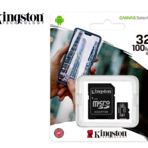 Memoria microSD 32GB Kingston Canvas Select Plus Class 10 100 MB/s