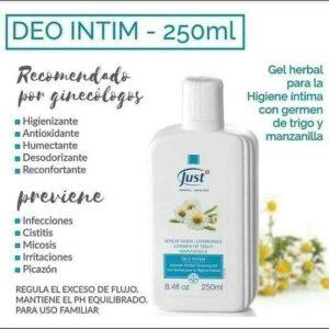 Deo Intim -Para Higiene Femenina Ph Neutro Swiss Just