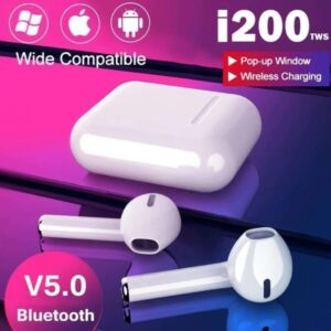 AUDIFONOS BLUETOOTH I200 TACTIL INALAMBRICOS DURACION 20H.