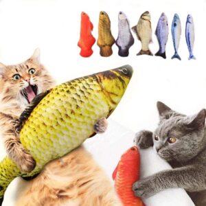 Juguete para gatos forma Pescado real / con catnip incluido