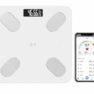 Balanza Inteligente peso corporal Bascula bluetooth Smart Scale Blanco