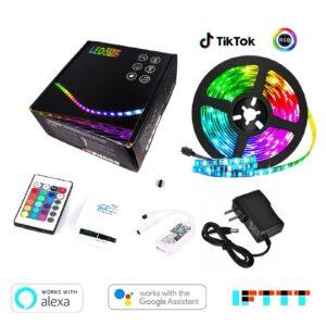 WIFI Tiras LED RGB 5M Inteligente Kit luz contralado por celular