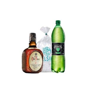 WHISKY GRAND OLD PARR 12 AÑOS + EVERVESS 1.5 L + HIELO 1.5 KG