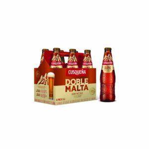 Cerveza Cusqueña doble malta 330 ml. six pack