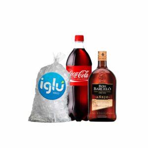 Ron Barceló Añejo 1.75 l + Coca Cola 3 L + HIELO 1.5 KG