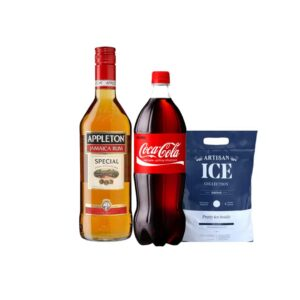 Ron Appleton Jamaica Run 1L + Coca Cola 3 Lt + HIELO 1.5 KG
