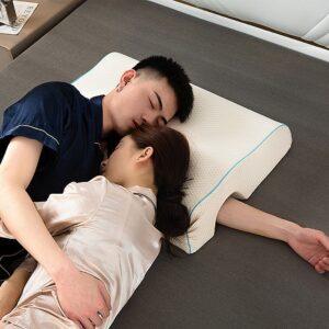 Almohada de espuma viscoelástica para parejas ergonómica