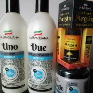 Shampoo + Acondicionador + Mascarilla + Argan LA BRASILIANA