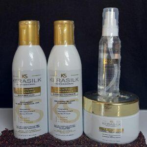Shampoo + Acondicionador + Mascarilla + Serum Kerasilk Liss Intense