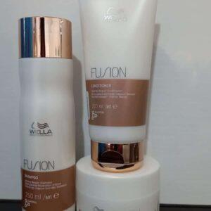 Shampoo Reparador + Acondicionador + Mascarilla - WELLA FUSION