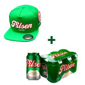 Pack de patas - Gorra Pilsen + 6 latas de Pilsen