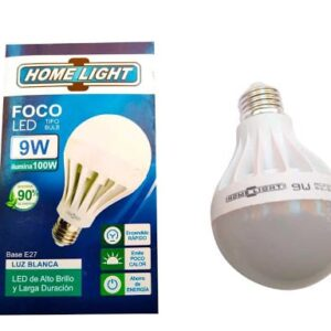 Foco LED Tipo Pera 9W Luz Dia Base E27 Home Light