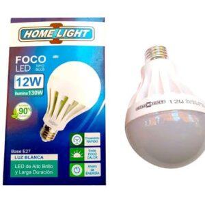 Foco LED Tipo Pera 12W Luz Dia Base E27 Home Light