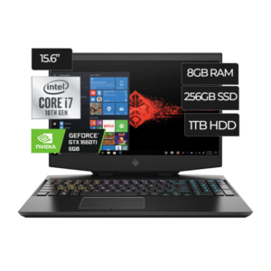 Laptop HP OMEN 15‐DH1070WM INTEL CORE I7 - 8GB RAM | N‐VIDIA GEFORCE GTX 1660TI 6GB