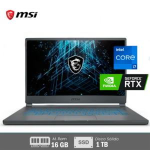 Laptop MSI STEALTH INTEL CORE I7 | 16GB RAM N‐VIDIA GEFORCE RTX 2060 6GB - 11°Gen