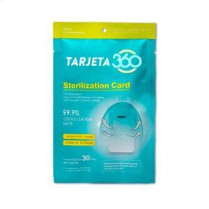 Tarjeta 360° Protege, esteriliza y desinfecta hasta el 99,9% de virus y bacterias
